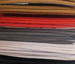 Bademantelkordel – unifarben – 8mm breit – 1 Meter