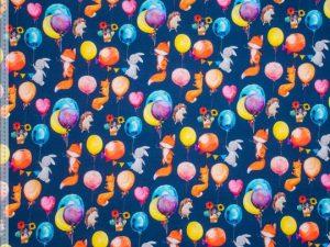 924634-62_1 Füchse und Hasen auf Blau