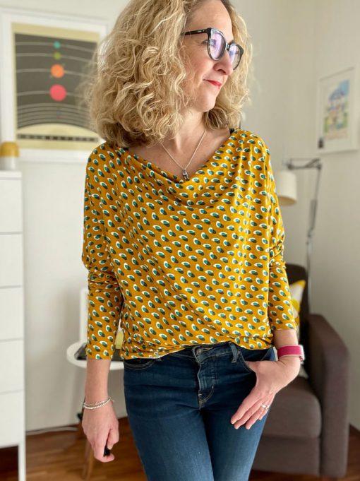 Schnittmuster Shirt Hilda Wasserfall - 4
