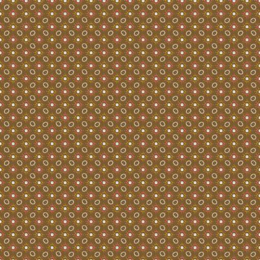 8894.006 Blumen Rot Oliv