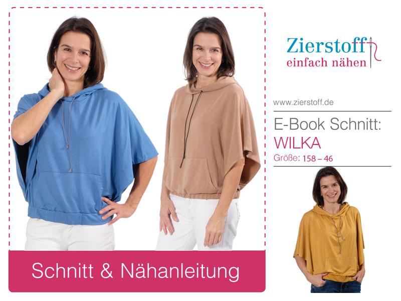 Poncho-Shirt Wilka – neues Schnittmuster