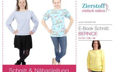 """Schnittmuster mit Puffärmel """"Bernice"""""""