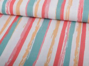 Baumwolle Canvas Streifen bunt - 1