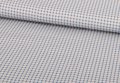 Baumwolle Punkte Blau Minimal Print - 1