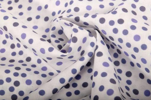 Baumwolle Punkte Blau Weiß - 2