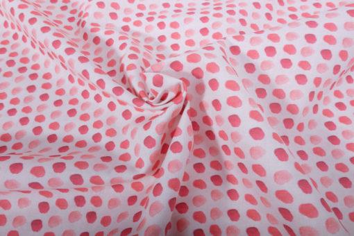 Baumwolle Punkte Rot Pink Weiß - 2