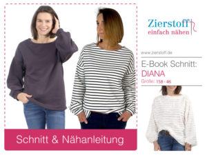 "Oversized Shirt mit weitem Arm, ""DIANA"", Gr. 158 – 46"