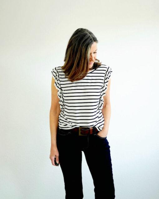 Schnittmuster Shirt Rüschen Roxanne - 3
