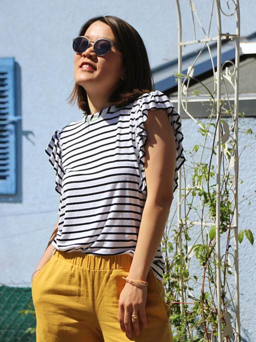 Schnittmuster Shirt Rüschen Roxanne - 5
