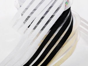Glitzerband 3 Streifen Gummiband - 1