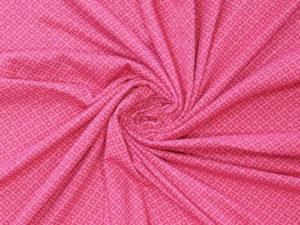 Jacquard recycelt Stoff Blumen Pink Rauten - 4