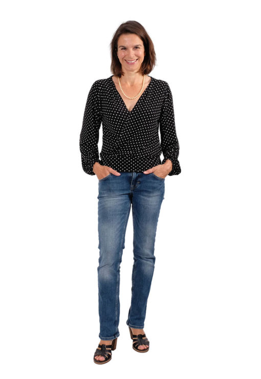 Schnittmuster Bluse Wickelbluse Irma 3