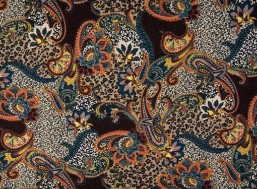 PC1910-005-1440-850 Viskosejersey Braun Orange