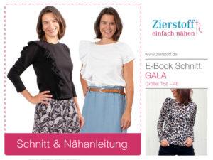 """Shirt mit Rüsche """"GALA"""", Gr. 158 – 46"""